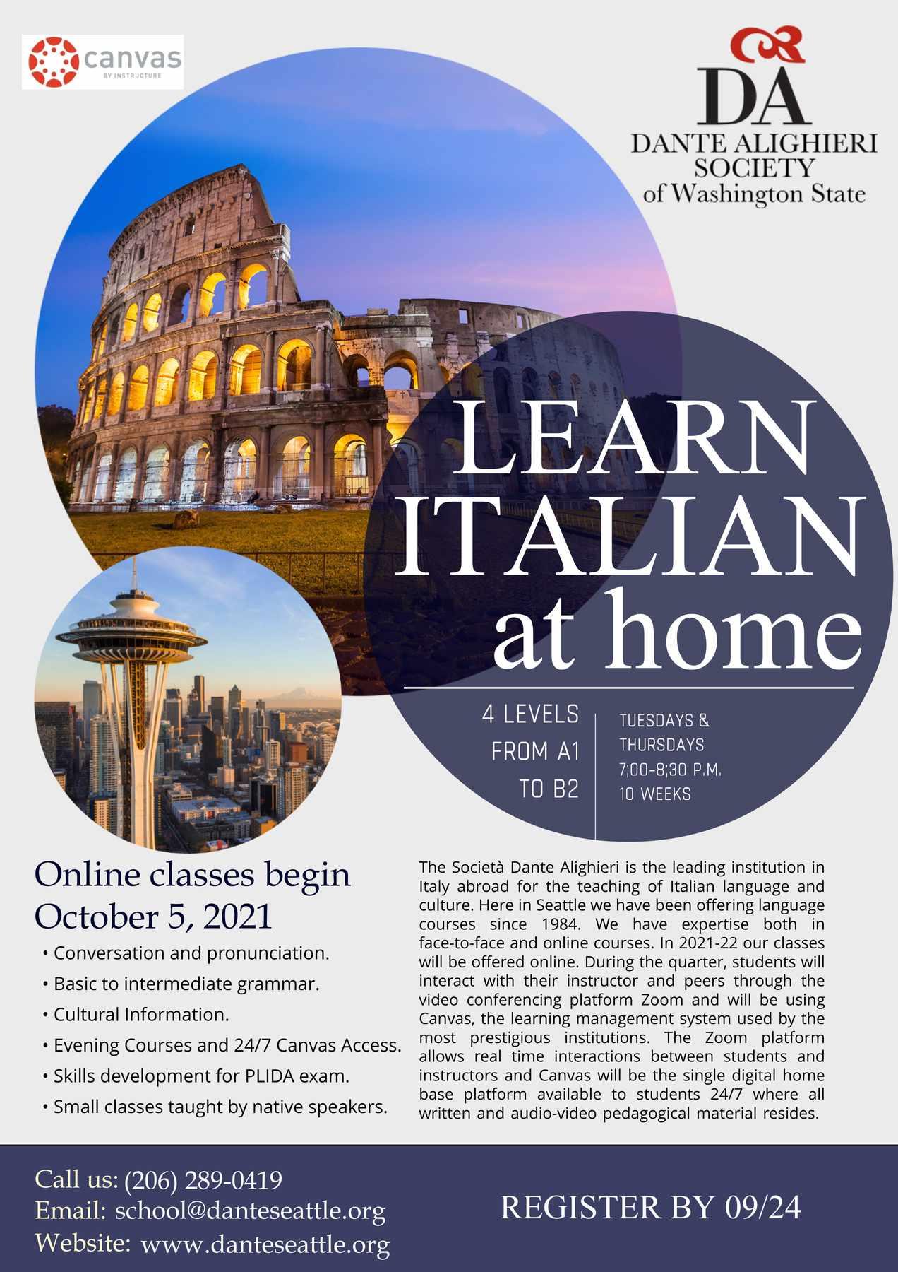 Fall 2021 Italian Language Classes